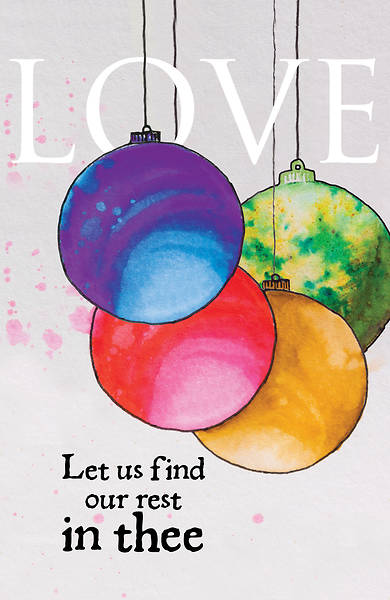 Picture of Love Ornament Advent Bulletin (Pkg of 50)