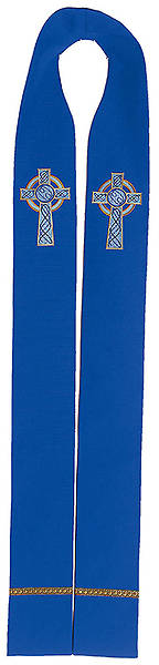 "Picture of Celtic Cross 100"" Stole BLUE"