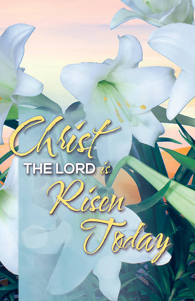 Picture of Christ the Lord is Risen Today  Easter Bulletin