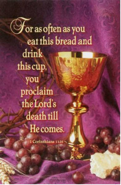 for as often as you eat communion bulletin cokesbury