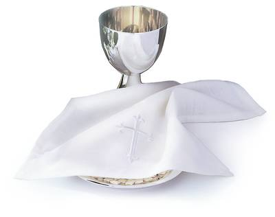 Picture of Bread Plate Napkin with Latin Cross (Easy-Care)