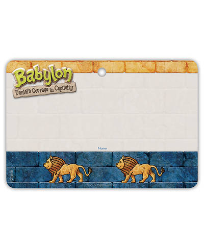 Vacation Bible School (VBS) 2018 Babylon Name Badges - Pkg of 10