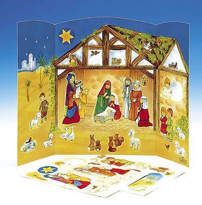 Nativity Advent Calendar with Stickers #CA4900