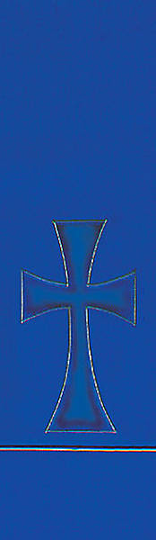 Blue Pure and Simple Cross Stole