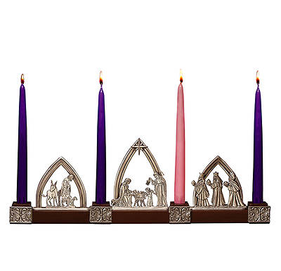 Picture of Nativity Advent with Candle Set Boxed