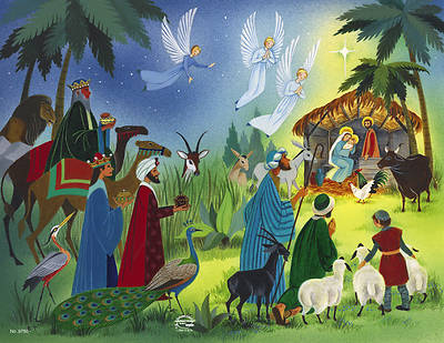 American Folk Art Nativity Bulletin Regular (Package of 100)