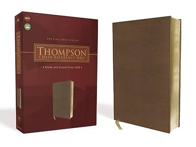 Picture of Nkjv, Thompson Chain-Reference Bible, Leathersoft, Brown, Red Letter
