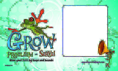 Grow, Proclaim, Serve! Sunday School Banner
