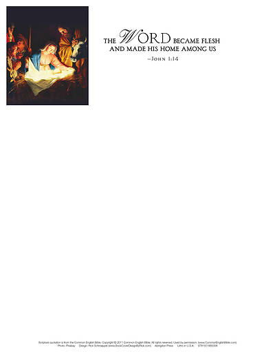 Picture of The Word Nativity Christmas Letterhead (Pkg of 50)