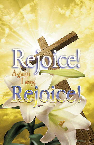 "Lilly and Cross ""Rejoice! Again I say Rejoice! Bulletin Regular (Package of 100)"