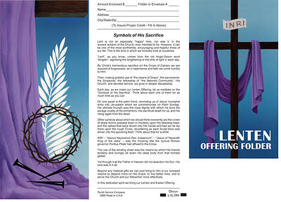 Symbols of His Sacrifice $15 Lent Coin Folder (Package of 50)