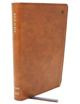 Net Bible, Thinline Large Print, Leathersoft, Brown, Comfort Print