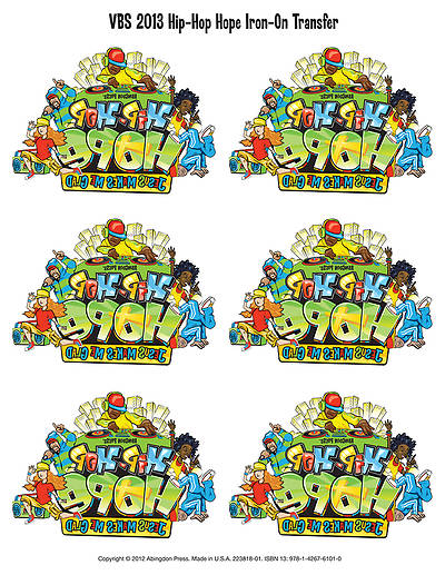 Vacation Bible School 2013 Hip-Hop Hope Pkg of 12 Iron-On Logos VBS