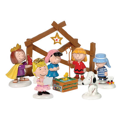 Peanuts Nativity Pageant Set of 8