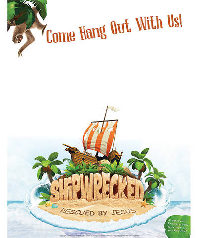 Vacation Bible School (VBS) 2018 Shipwrecked Publicity Posters - Pkg of 5