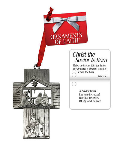 Nativity Cross Christmas Ornament