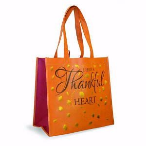 Picture of Eco Tote-Orange Thankful Heart