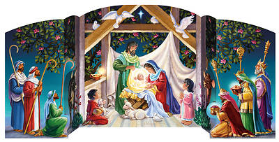Picture of Visiting the Manger Free Standing Advent Calendar