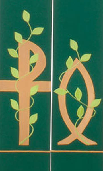 Picture of Green Chi Rho Vine Stole