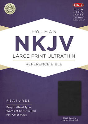 cd4b3ed19fd59 Picture of NKJV Large Print Ultrathin Reference Bible, Black Genuine  Leather Indexed