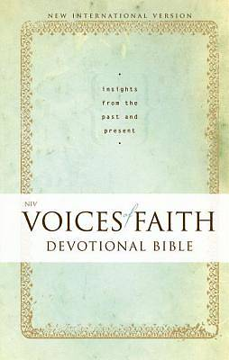 New International Version Voices of Faith Devotional Bible