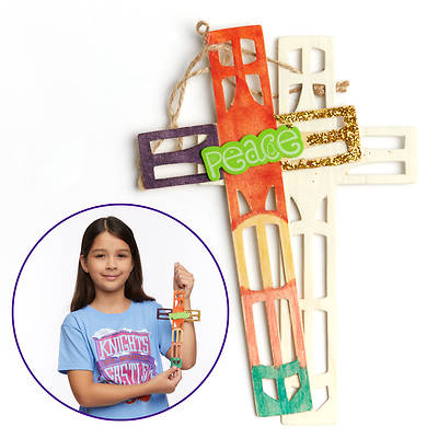 Picture of Vacation Bible School (VBS) 2020 Knights of North Castle Artist Cut Wood Cross (Pkg of 12)
