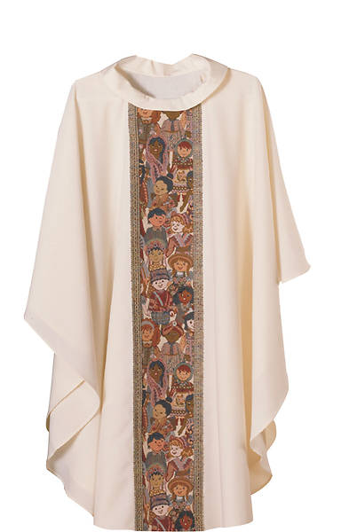 Picture of Abbott Hall Children of the World Off-White Chasuble