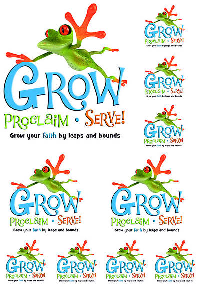 Picture of Grow, Proclaim, Serve! Iron-On (One Sheet)