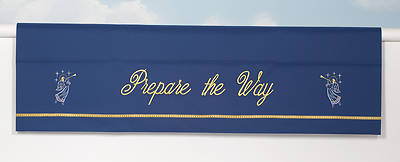 Word Series Blue Advent Altar Frontal