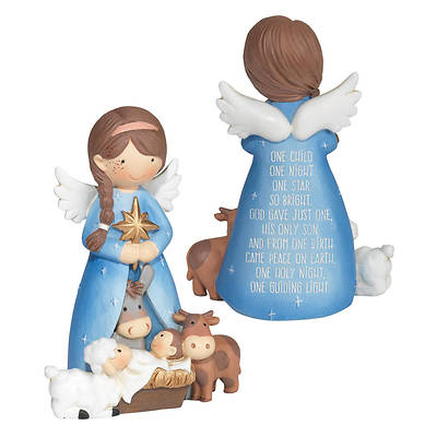 Picture of Angel with Baby Jesus & Animals 4""