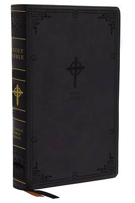 Picture of Nabre, New American Bible, Revised Edition, Catholic Bible, Large Print Edition, Leathersoft, Black, Thumb Indexed, Comfort Print