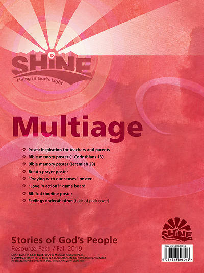 Shine Multiage Grade K-6 Resource PK Fall 2019