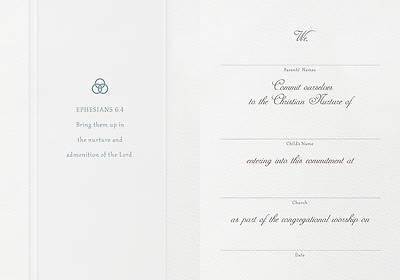 Picture of Parchment Paper Fold Dedication Certificate