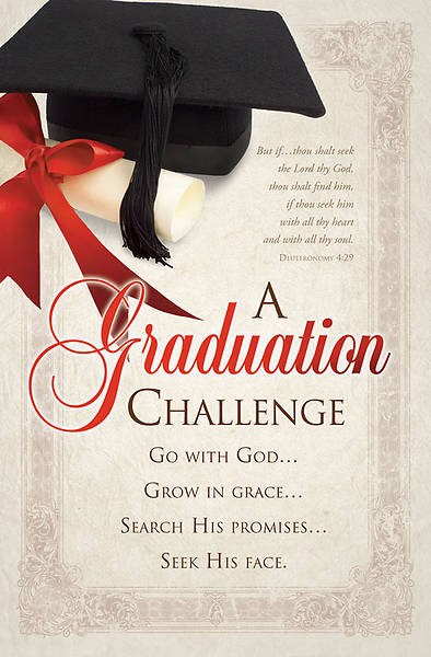 Graduation Bulletin, Deuteronomy 4:29, Regular (Package of 100)