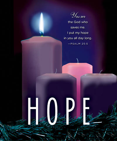 hope advent candle sunday 1 bulletin large pkg of 50. Black Bedroom Furniture Sets. Home Design Ideas