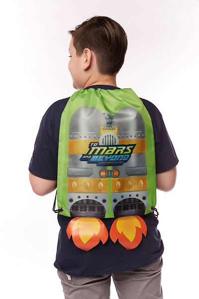 Picture of Vacation Bible School (VBS) To Mars and Beyond Jet Pack Drawstring Bag (Pkg of 6)