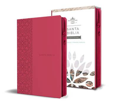 Picture of Biblia Reina Valera 1960 Letra Grande. Símil Piel Fucsia, Cremallera, Tamaño Manual / Spanish Holy Bible Rvr 1960. Handy Size, Large Print, Leathersof