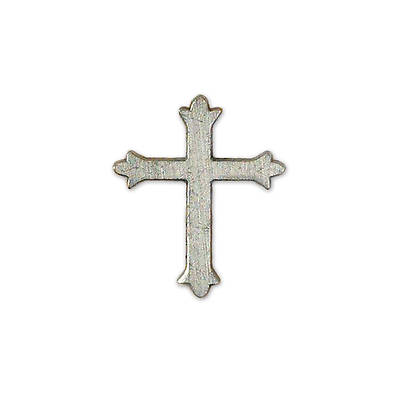 Godparent Cross Lapel Pin - Pewter 1