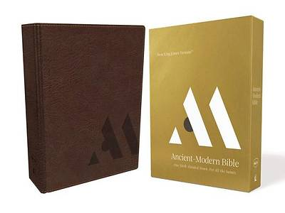 Picture of NKJV, Ancient-Modern Bible, Imitation Leather, Brown, Comfort Print