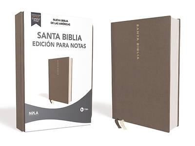 Picture of Nbla Santa Biblia Edición Para Notas, Tapa Dura/Tela, Gris, Letra Roja