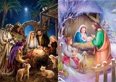 Shining Light and Away In A Manger Advent Calendars - Pkg of 6