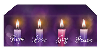 Picture of Lights of Advent Altar Frontal - Purple