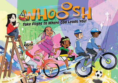 Vacation Bible School (VBS) 2019 WHOOOSH Activity Stickers Sheets (Pkg of 12)