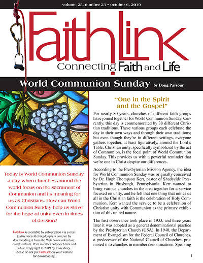 Picture of Faithlink - World Communion Sunday (10/6/2019)