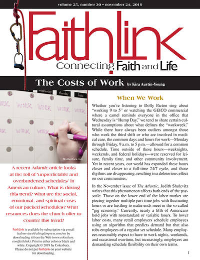 Picture of Faithlink - The Costs of Work (11/24/2019)