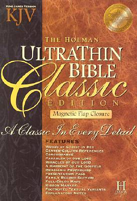 Picture of Ultrathin Bible-KJV-Classic Magnetic Closure