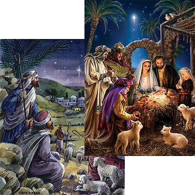Picture of Shining Light and Yonder Star Advent Calendar with Envelope (Package of 6)