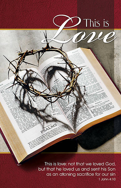 Picture of This is Love Lent Legal Size Bulletin