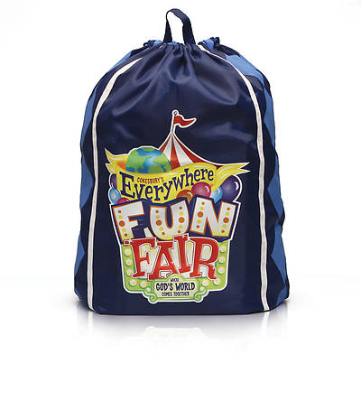 Vacation Bible School 2013 Everywhere Fun Fair Leader Tote Drawstring Backpack VBS
