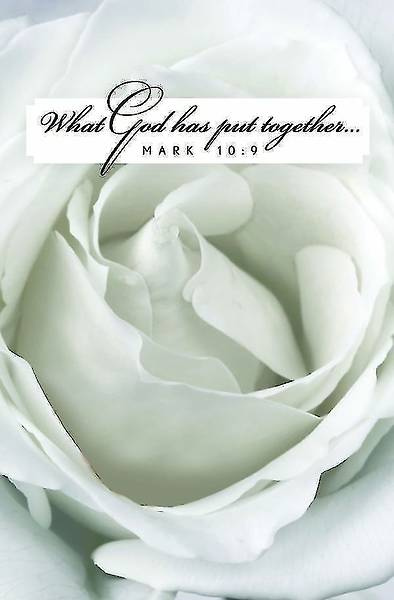 White Rose Bloom Wedding Bulletin (Pkg of 50)